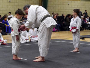 Judo competition about to start - Hampton Academy 2012