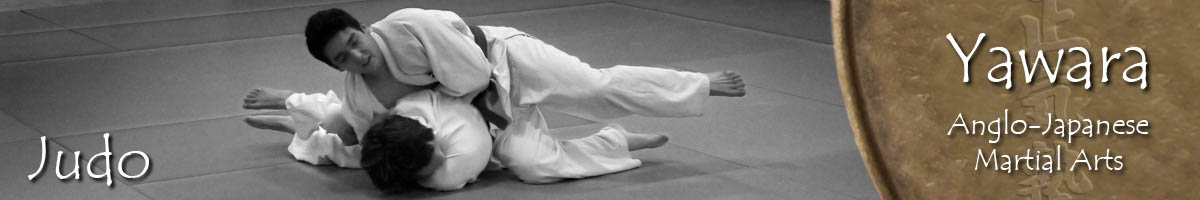 A hold in a Judo training sessions at the dojo in Woking