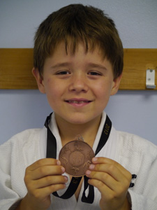 Emil with his bronze medal at the Judo IBC Nationals 2013. His Judy and Karate training in Wandsworth is giving results!