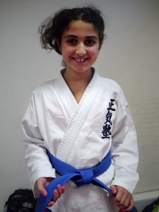 One of our Karate students.